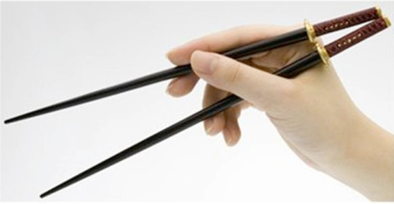 Contender number two: Chang the chopstick.