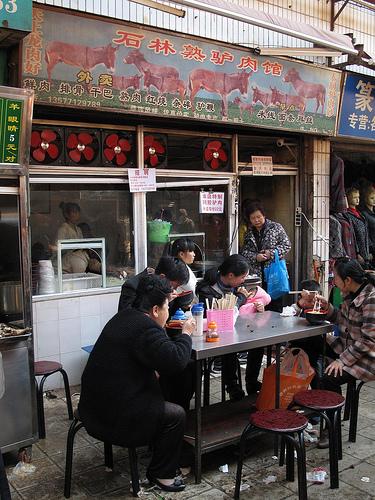 A Muslim donkey meat restaurant in Kunming.