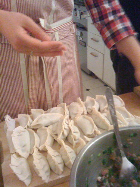 But on the other hand, carving up these delicate dumplings with a fork and knife seems like barbaric overkill.