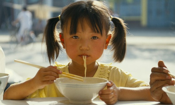 All over Asia, children grow up slurping noodles.