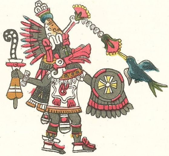 Quetzalcoatl, the feathered serpent.