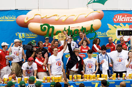 The 2013 annual Nathan's famous hotdog eating contest.
